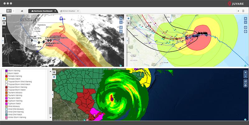 WebEOC Software - WebEOC hurricane dashboard