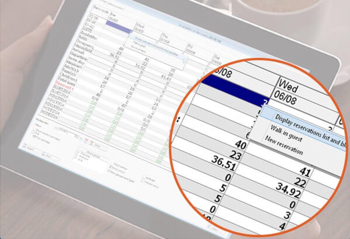 Hotello Software - iPad view
