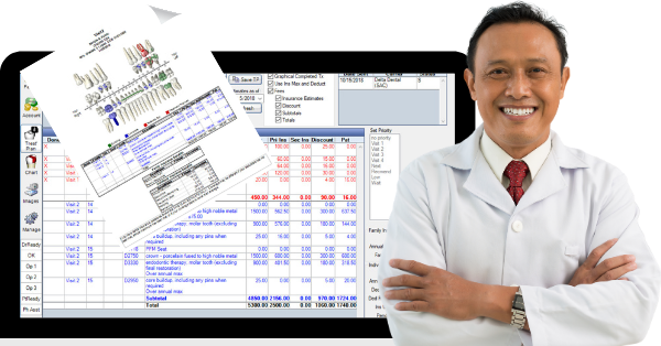 Increase case acceptance with clear estimates. Easily broken down by option, visit, or stage, and with a tooth chart for easy identification, treatment plans can be digitally signed, stored, and sent.