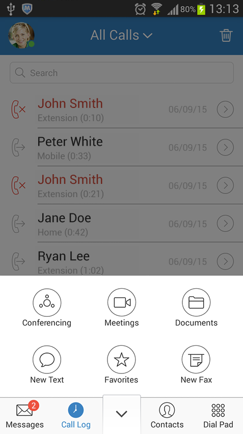 Collaboration tools include file sharing, video & audio conferencing, and more