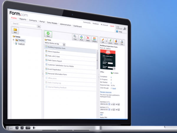 Form.com provides intuitive admin control and security