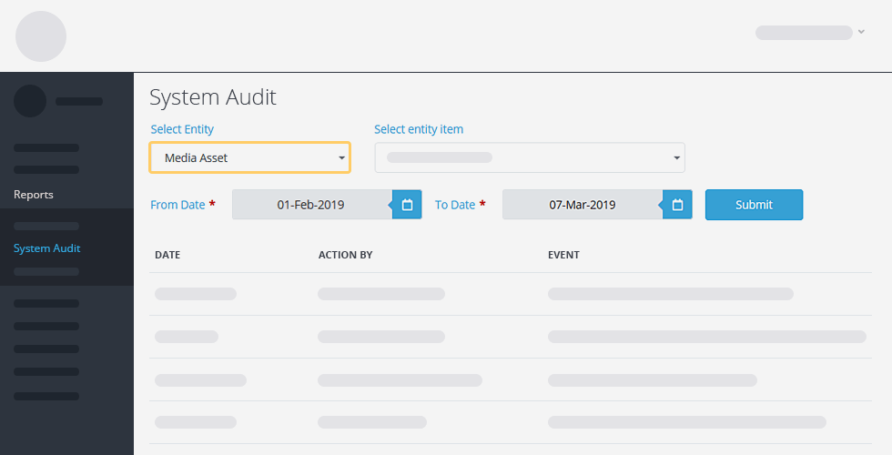 Crises Control system audit screenshot