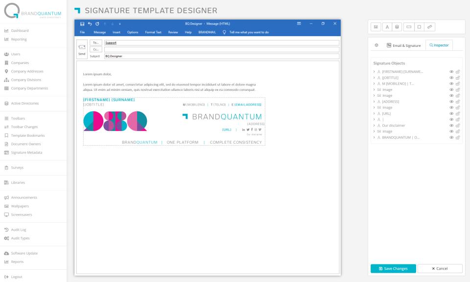 BrandMail signature template designer