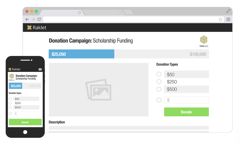 Raklet: Create and manage fundraising campaigns