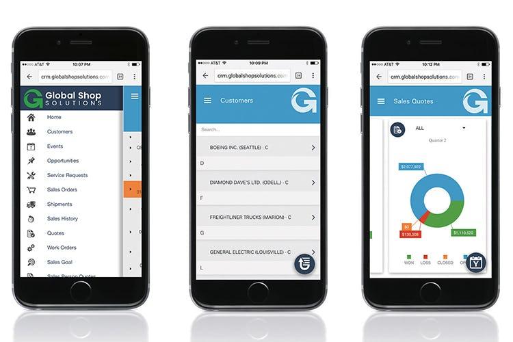 Global Shop Solutions Software - Global Shop Solutions Mobile