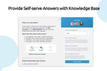 Comm100 Live Chat screenshot: Provide Self-serve Answers with Knowledge Base