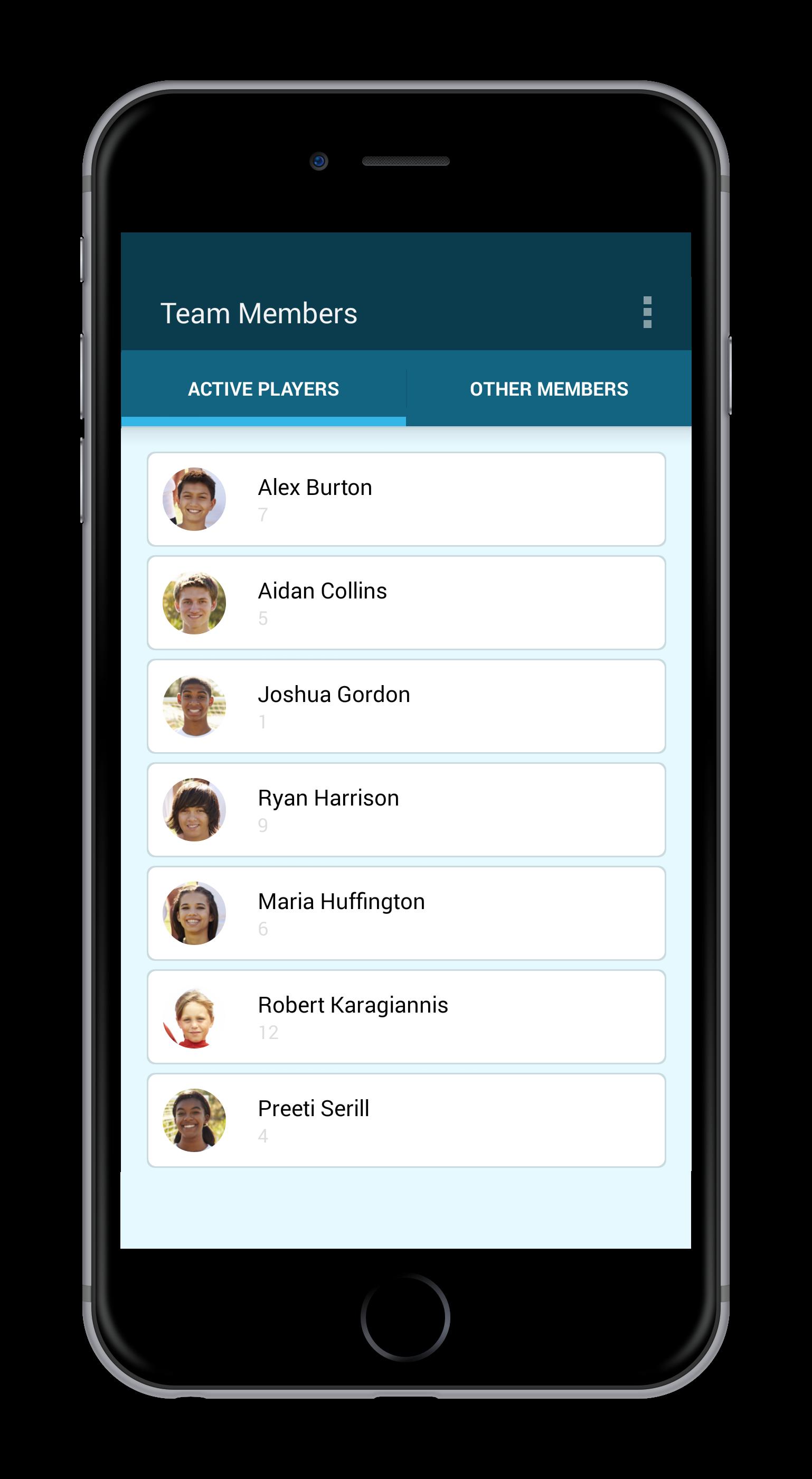 Mobile members list