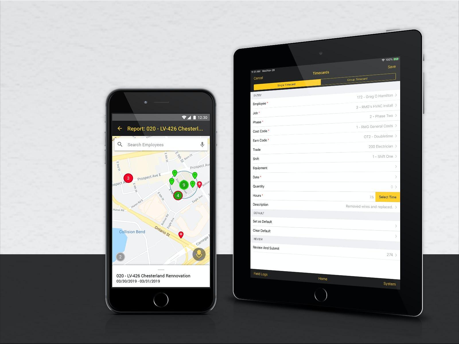 FOUNDATION Software - FOUNDATION Mobile timecard