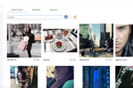 Viraltag screenshot: Content can be curated from Instagram, Flickr accounts, RSS feeds, and more