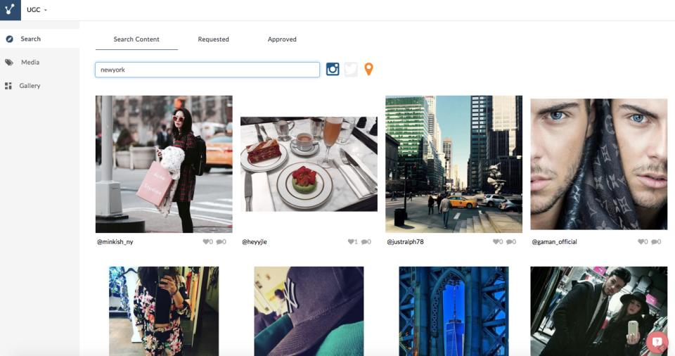 Content can be curated from Instagram, Flickr accounts, RSS feeds, and more