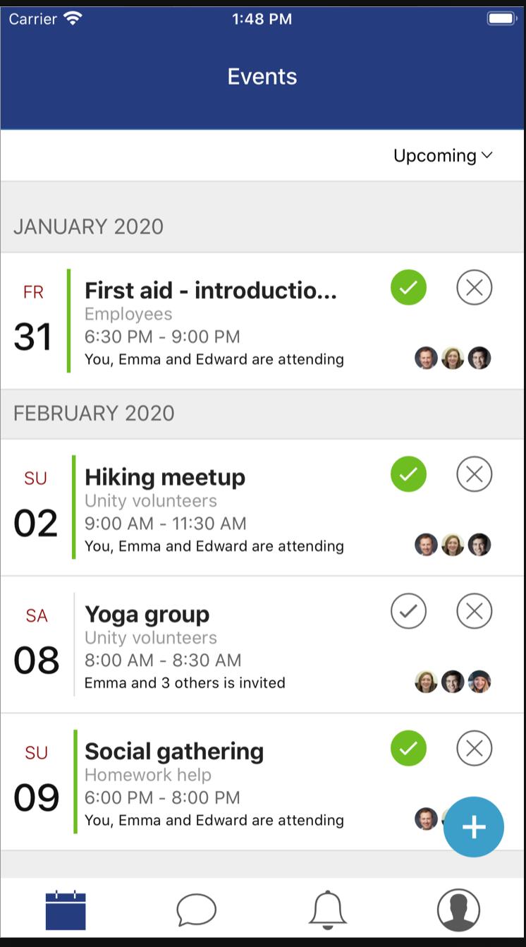 ViVil events feed