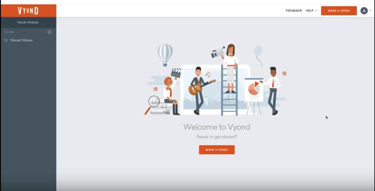 Vyond homepage
