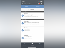 EasyShifts Software - Inbo: Employees can message each other or you can send messages to large groups of the staff
