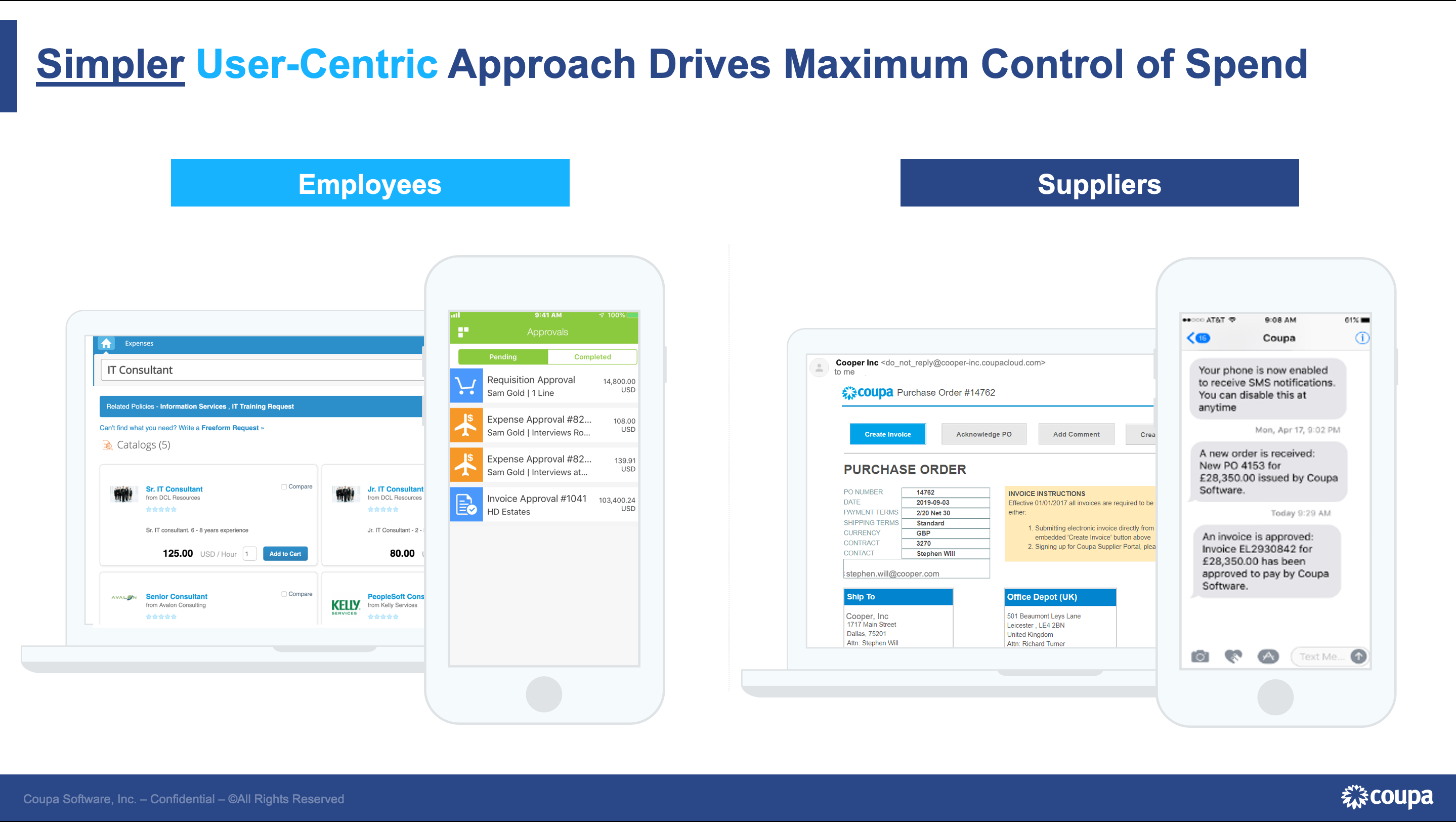 Coupa Business Spend Management Software - User-Centric Approach