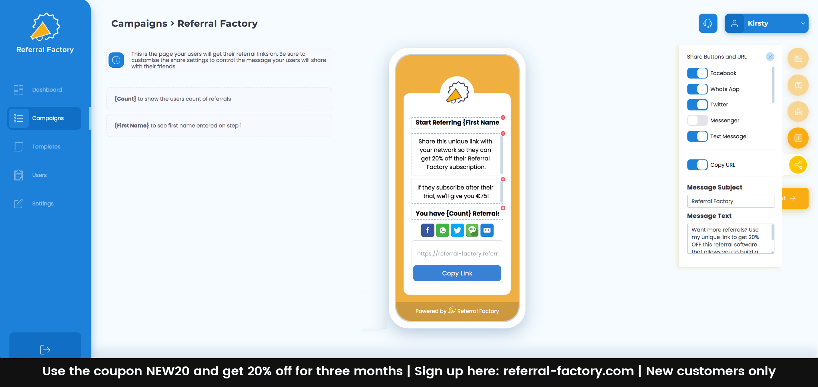 Drag And Drop Campaign Builder To Build Referral Programs
