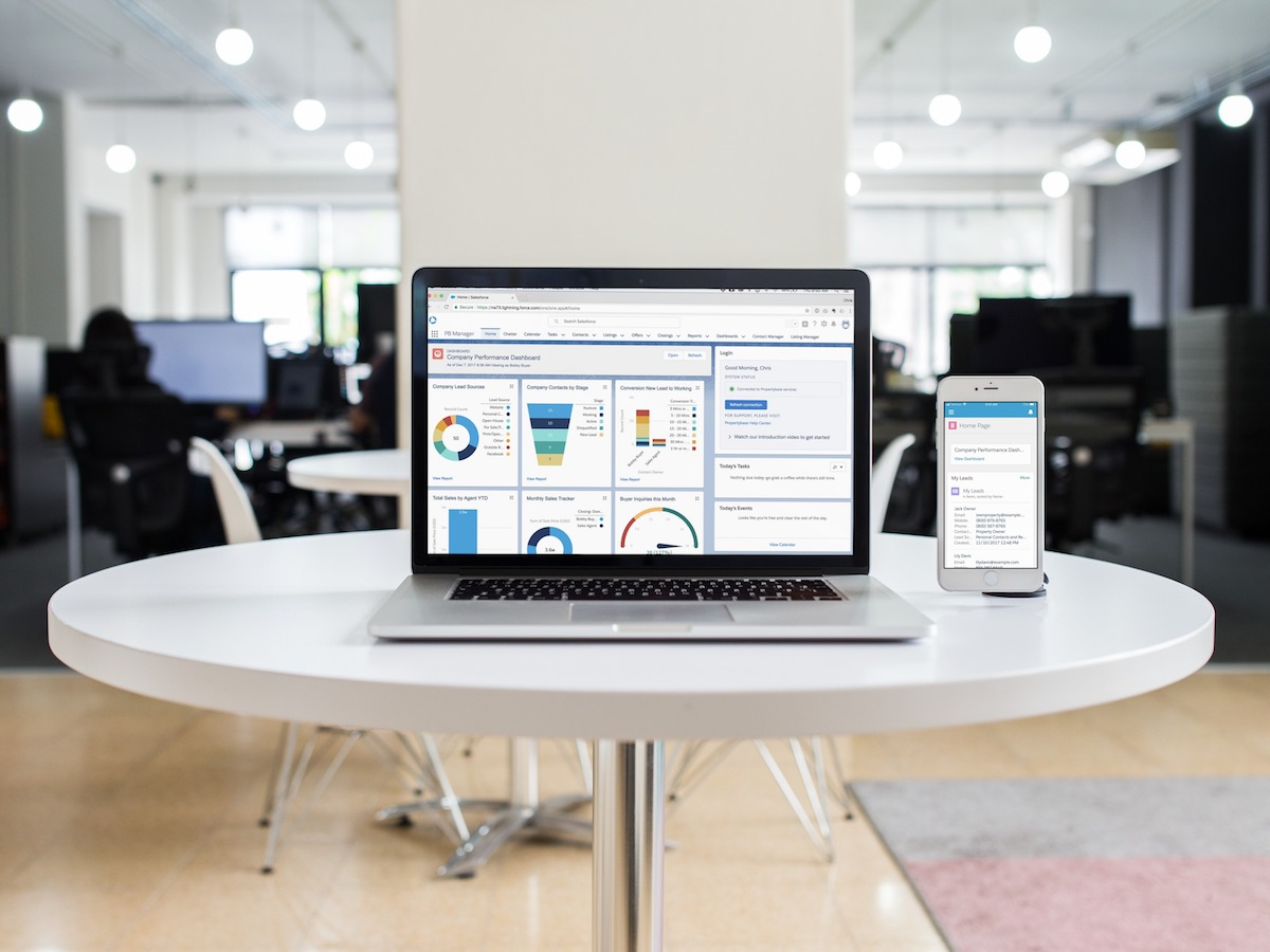Propertybase Salesforce Edition screenshot: Propertybase is accessible across multiple devices