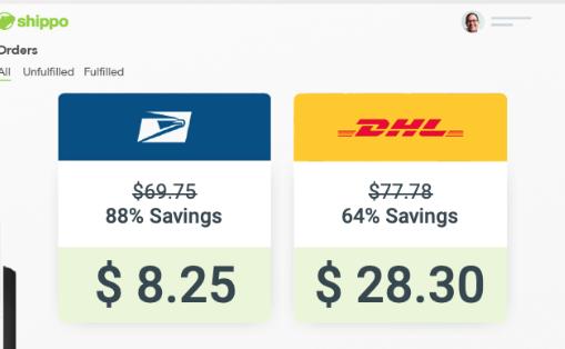Shippo Rate comparison