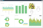 IntelliFront BI screenshot: Design & serve visually stunning, interactive, real-time reports and dashboards in the browser-based admin module using a wide array of visuals