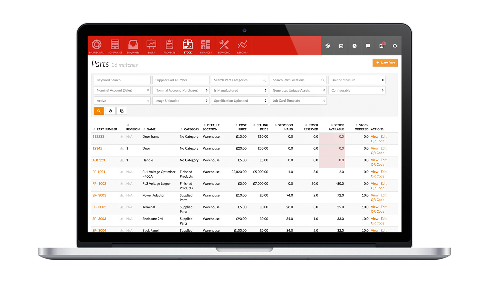 Parts & inventory management tool