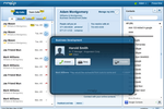 Ringio screenshot: Ringio desktop application showing My Calls and call alert dialog