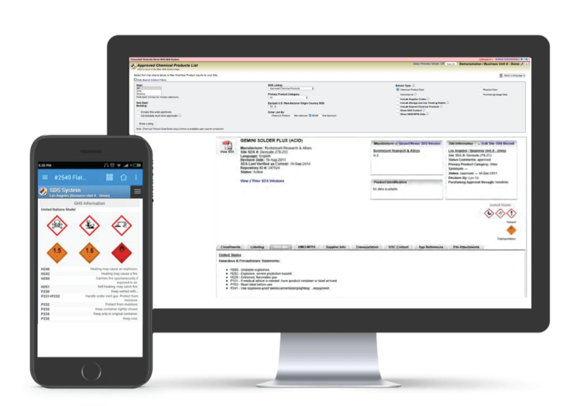 Meet Hazard Communication obligations through easy to use, desktop & mobile friendly search. Maintain up-to-date MSDS for all chemical products with turnkey SDS version maintenance. Manage end-to-end chemical inventory tracking.