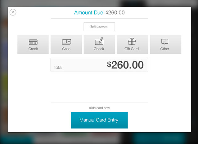 Users can accept multiple payment methods, including cash, checks, and credit cards, and talech also supports split payments
