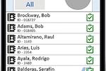 ALMobile screenshot: ALMobile time entry via mobile device