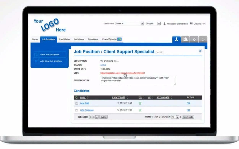 Video Recruit Software - Job posting %>