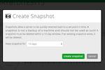 Capture d'écran pour CenturyLink : CenturyLink automatic server snapshot setting