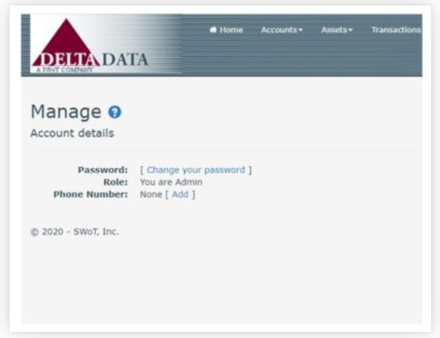 Trust Accountant Cloud manage passwords