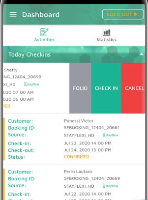 Stayflexi dashboard