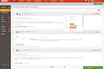 Deskero screenshot: Extended ticket list view gives you a more detailed view of your list of tickets