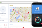 ClockIt screenshot: GPS tracking through mobile device