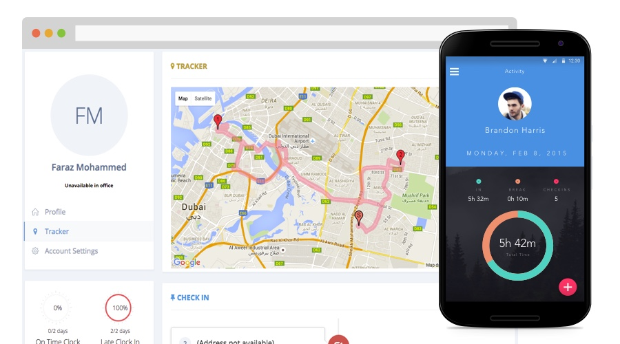 GPS tracking through mobile device