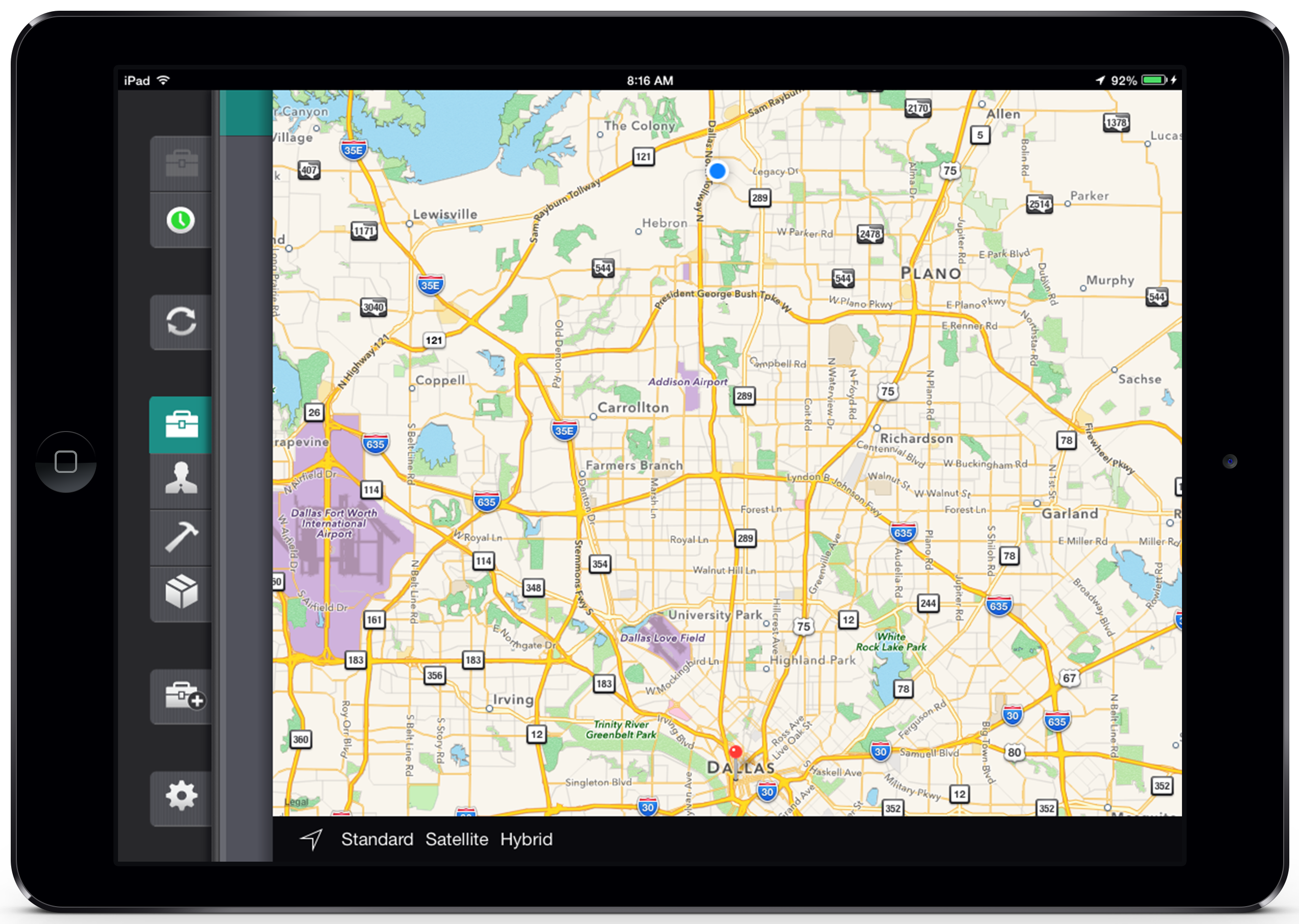 Route management allows field workers to find the job site