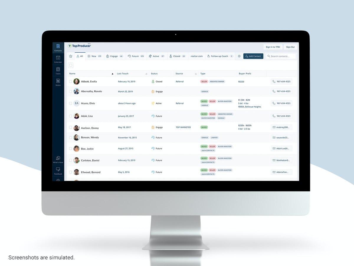 TOP PRODUCER Software - Modern Interface