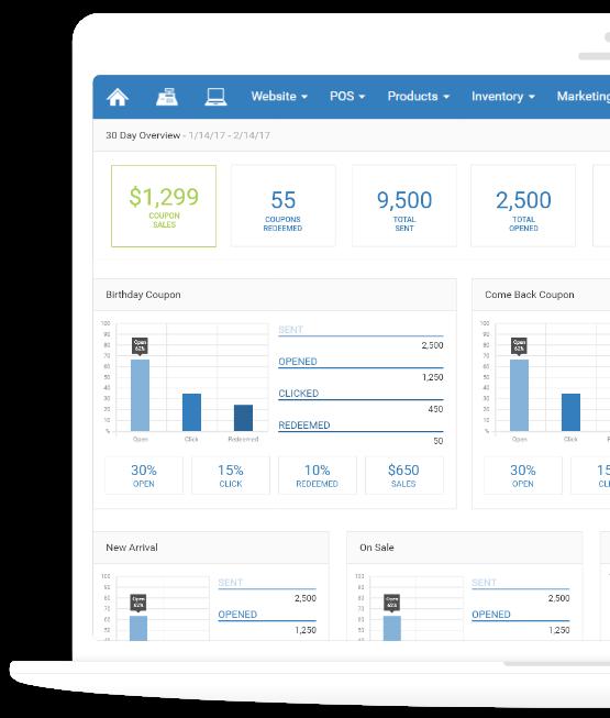 Rain Point of Sale reporting screenshot