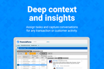 FinancialForce Accounting screenshot: Conversations embedded with transactions
