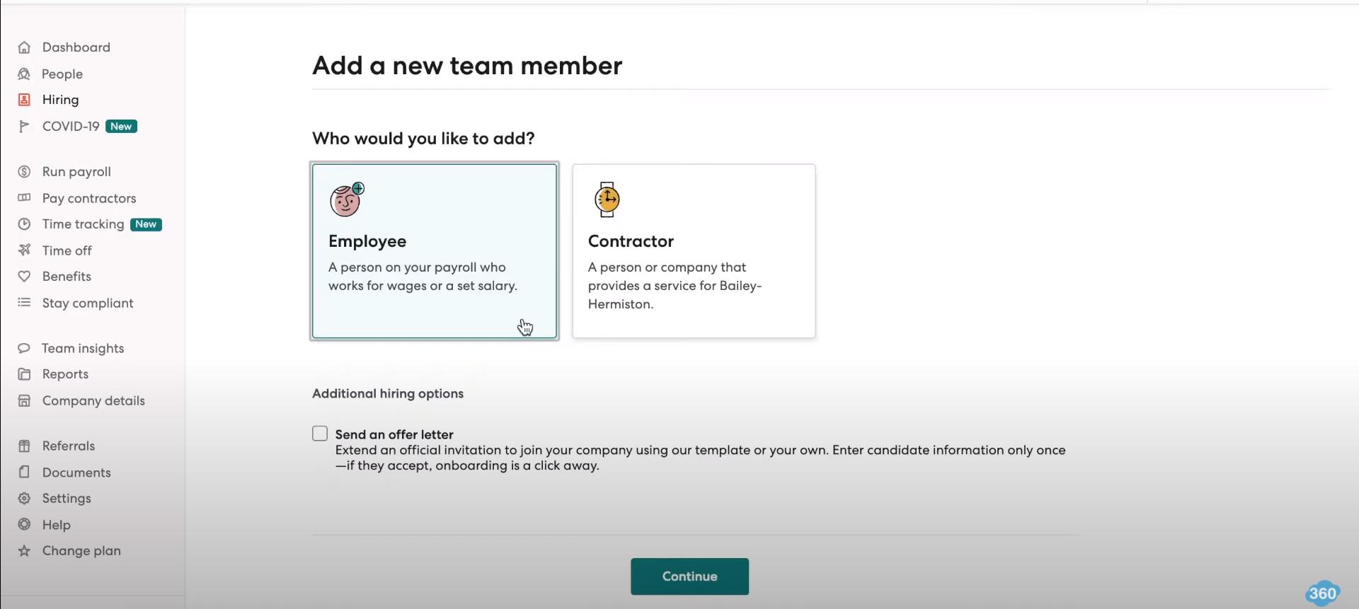 Bookkeeper360 Software - Bookkeeper360 add a new team member