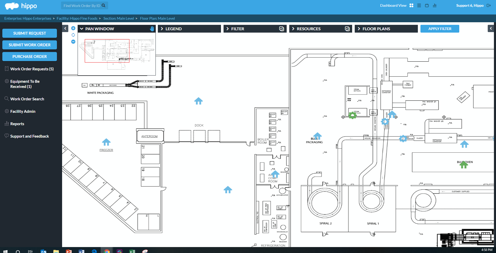 Hippo CMMS Software - Interactive Plans Maps
