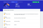 HealthEngine screenshot: HealthEngine feedback dashboard