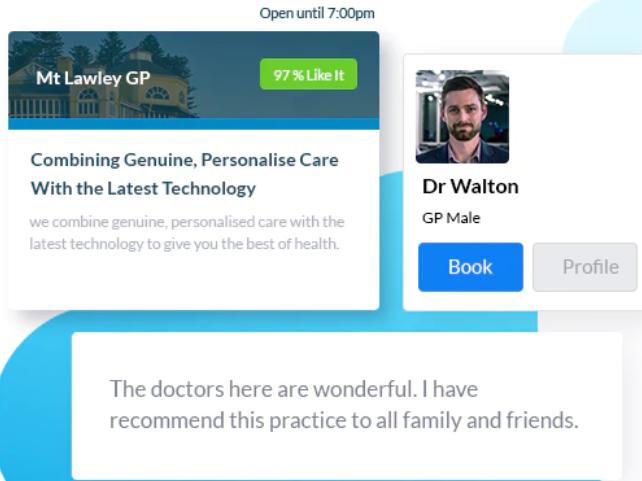 HealthEngine practitioner profile