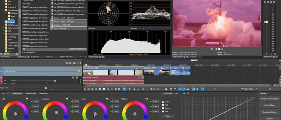 VEGAS Pro Software - VEGAS Pro color grading