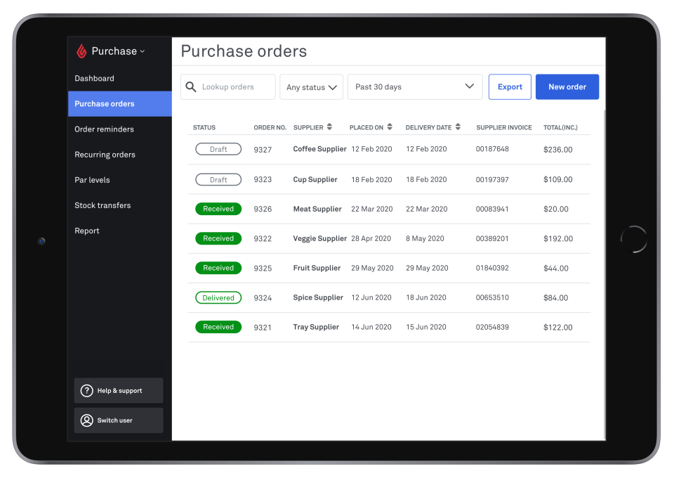 Lightspeed POS Software - Purchase Orders