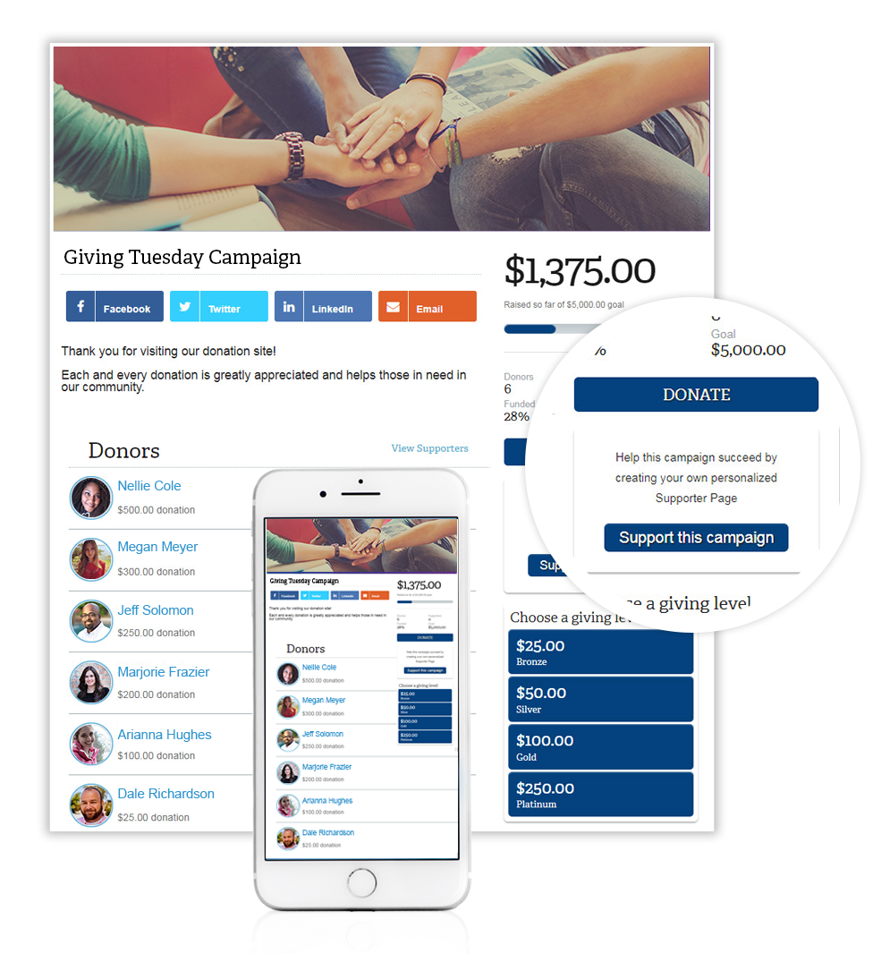 memberplanet enables users to collect donations and keep track of how close they are to the fundraiser goal