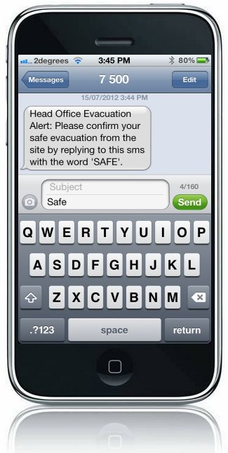 Bulk SMS thousands of people in the event of an emergency to find who is missing in minutes
