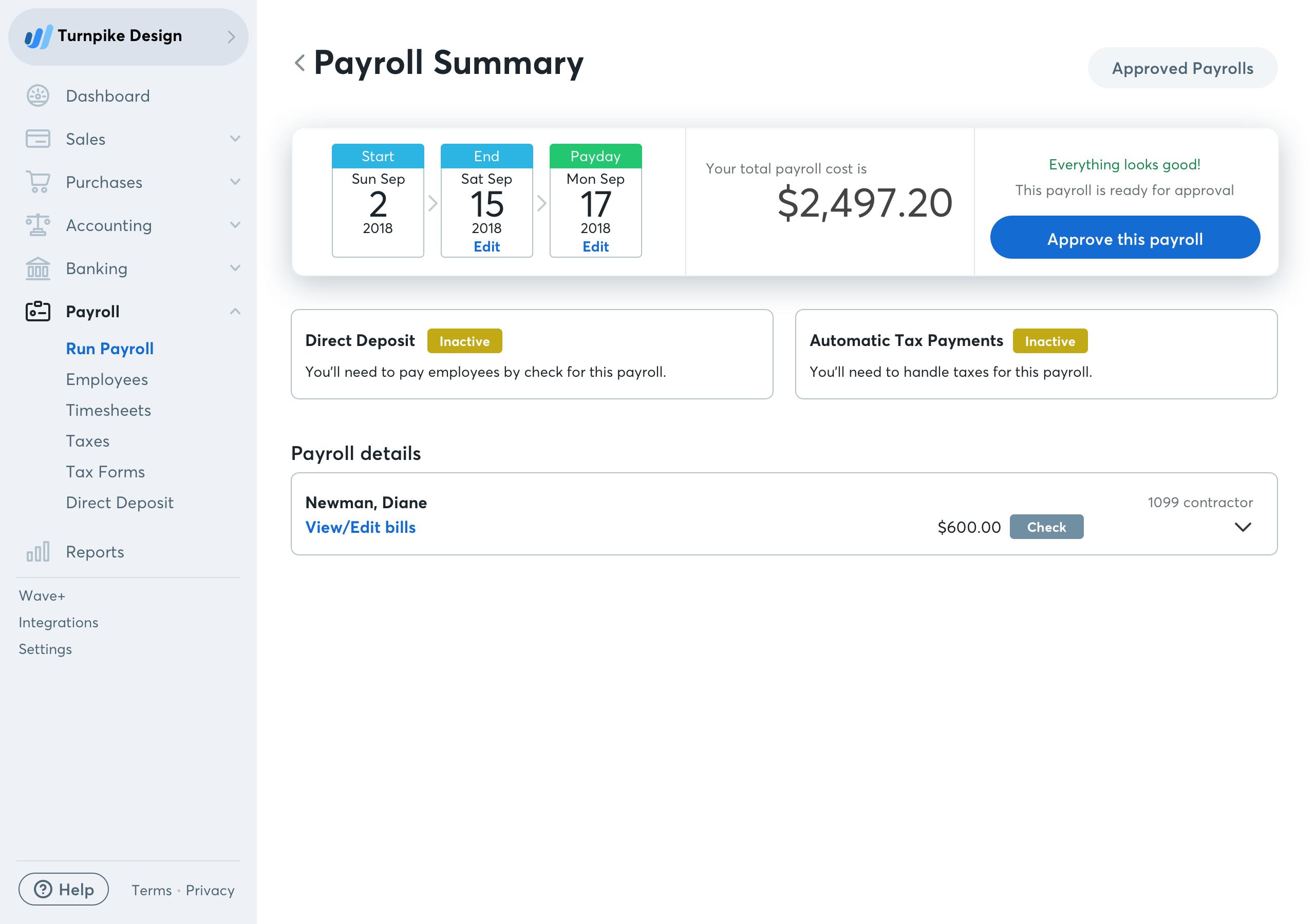 Payroll Details