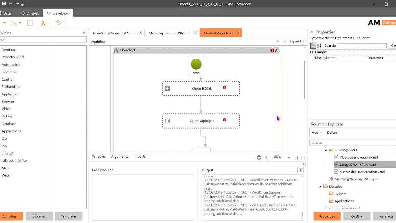 AM Ensemble workflow management