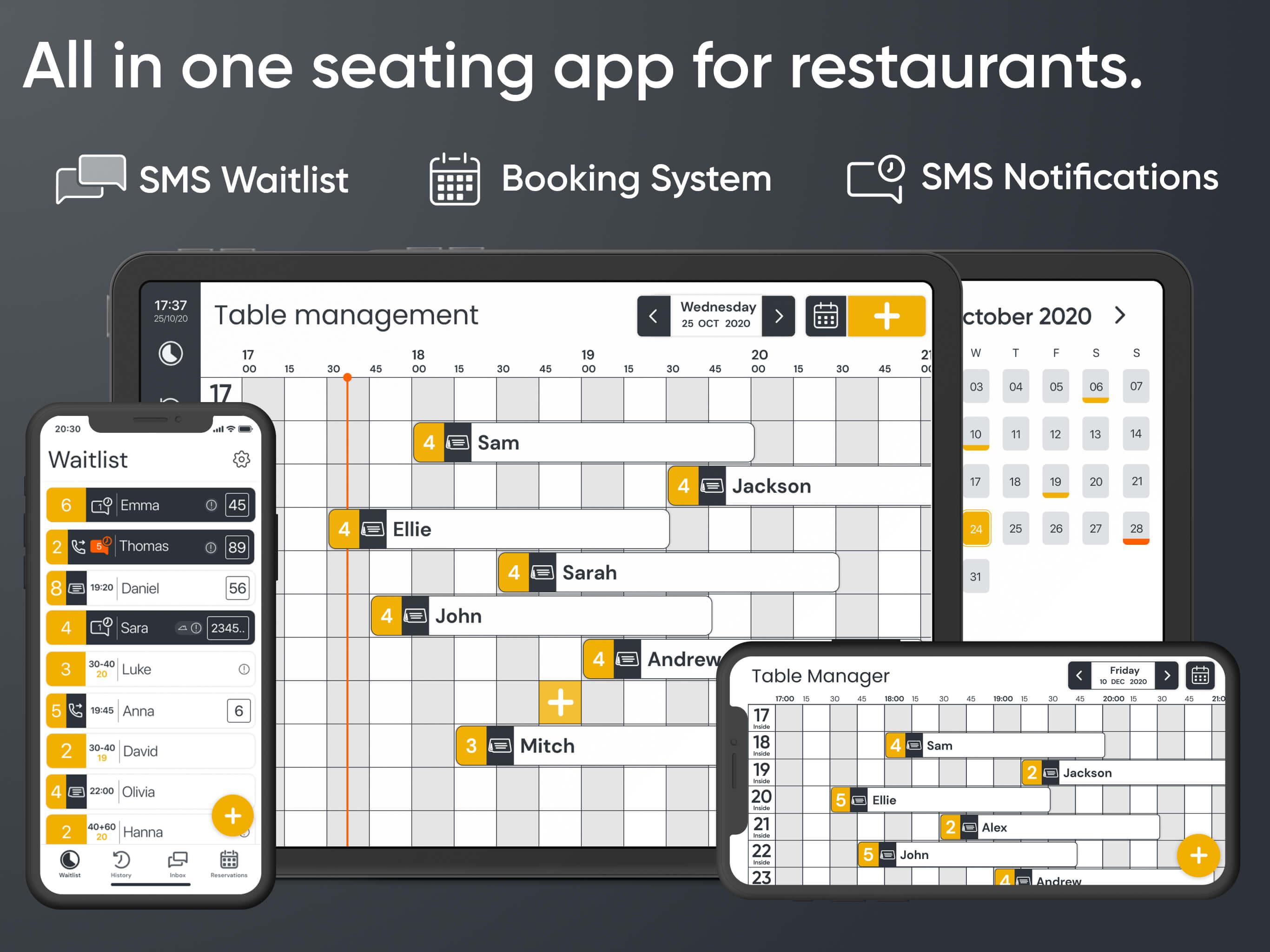 App For Restaurants: Waitlist and  Online Reservation System