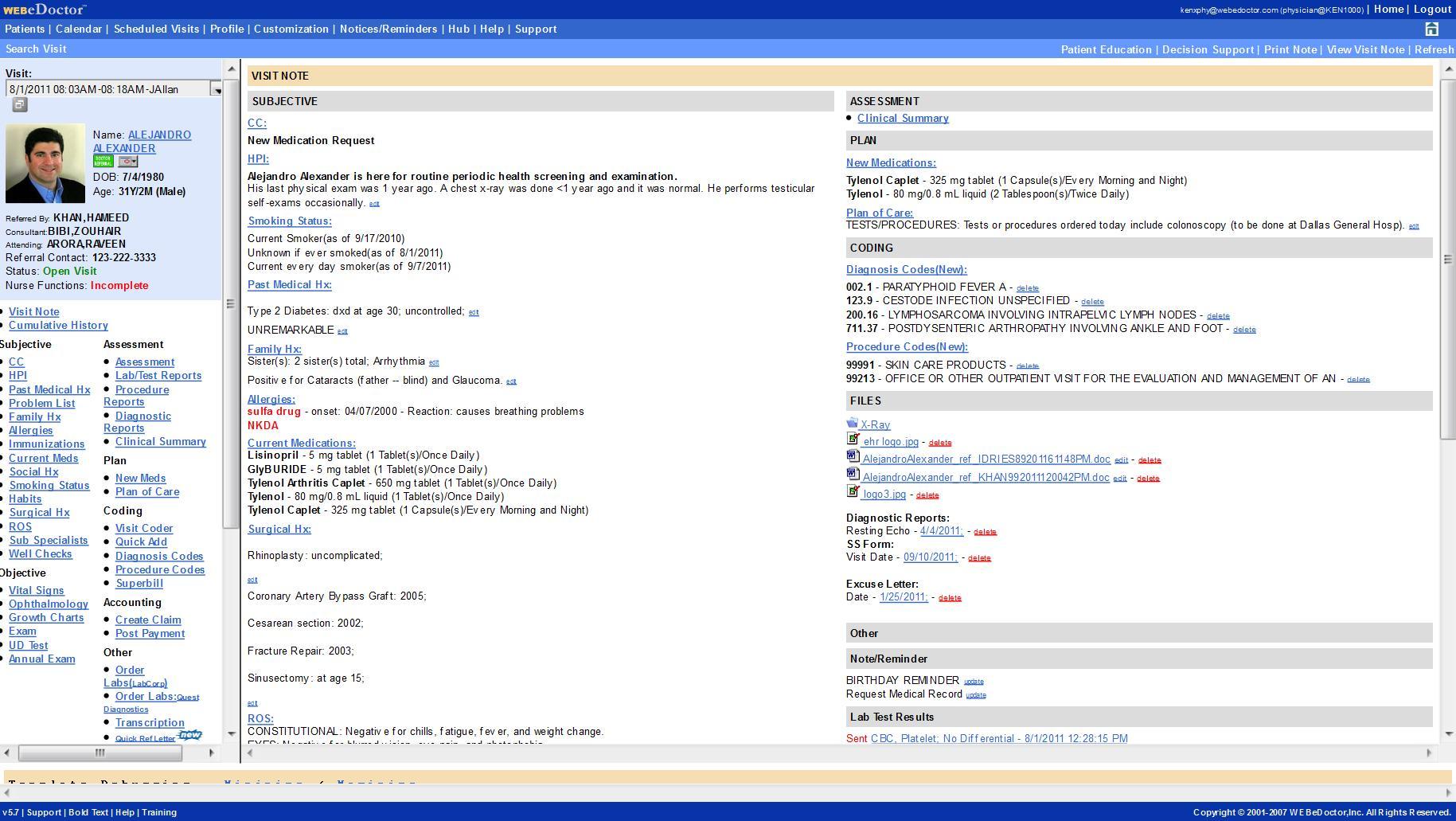 WEBeDoctor Software - WEBeDoctor's EMR